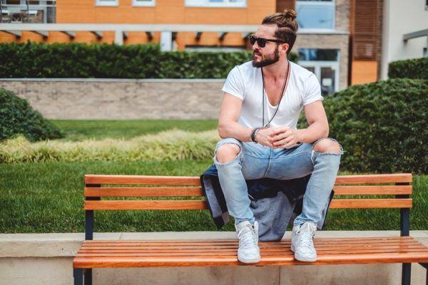 Foto consejos modelo hombre hipster