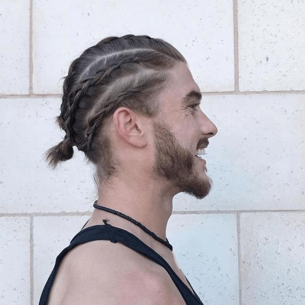 Peinados hombres trenzas