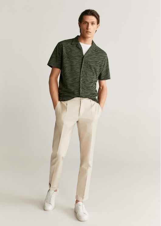 Pantalon Verde Camisa Azul Hombre Tienda Online De Zapatos Ropa Y Complementos De Marca